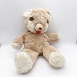 Vintage Tan White Rubber Nose Mouth Teddy Bear ? Ideal ? Gund Cubbi 1950s Toy